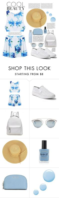 """DEfnee..kiralik ask style shades of blue "" by naomy-nona ❤ liked on Polyvore featuring Steve Madden, Christian Dior, Balmain, Lauren B. Beauty, MICHAEL Michael Kors, Topshop, Drybar and Oris"