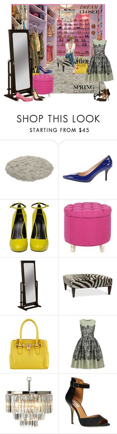 """Spring Cleaning: Dream Closet!"" by teah507 ❤ liked on Polyvore featuring interior, interiors, interior design, home, home decor, interior decorating, Calvin Klein, Giuseppe Zanotti, Safavieh and Powell Furniture"