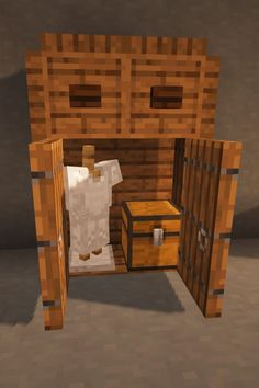 Here's a functional dresser design to add some extra detail to your Minecraft survival world. Minecraft House Plans, Minecraft Mansion, Minecraft Houses Survival, Cute Minecraft Houses, Minecraft House Tutorials, Minecraft Room, Minecraft House Designs, Amazing Minecraft, Minecraft Crafts