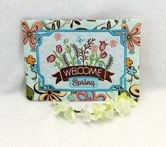Spring Mug Rug 2 - 5x7 | What's New | Machine Embroidery Designs | SWAKembroidery.com Oma's Place