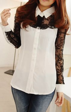 NEW:  Lace shirt  HAVE:  Jeans.  Also could wear with black Express pants (never worn--remake leg to be skinny)