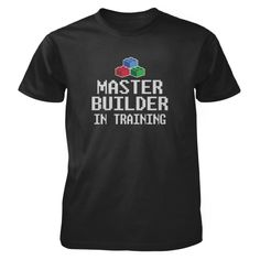 One day I'm going to be a master builder, but for now I'm training! All of our incredibly soft unisex youth shirts are made of 100% combed cotton. The sport grey t-shirt is made of 90% combed cotton and 10% polyester. Every t-shirt is custom made within 2-3 business days of completed payment.