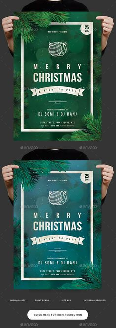 Buy Christmas Party Flyer by on GraphicRiver. Features 2 Colors Images are Smart Objects Easy editable text CMYK @ 300 DPI – Print-ready. Christmas Poster, Christmas Night, Christmas Gifts For Women, Christmas And New Year, Christmas Cards, Christmas Invitation Card, Invitation Card Design, Invitation Cards, Christmas Flyer Template
