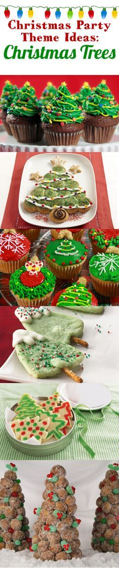 Like the cookie trees. Christmas Food Treats, Christmas Party Themes, Holiday Snacks, Christmas Dishes, Christmas Sweets, Christmas Goodies, Christmas Baking, Holiday Recipes, Christmas Holidays
