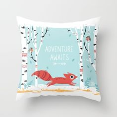 Buy Adventure Awaits Throw Pillow by Freeminds. Worldwide shipping available at Society6.com. Just one of millions of high quality products available.