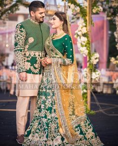 Mehndi Dress For Groom, Pakistani Mehndi Dress, Bridal Mehndi Dresses, Asian Bridal Dresses, Nikkah Dress, Shadi Dresses, Pakistani Wedding Dresses, Punjabi Wedding, Pakistani Suits