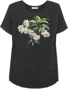 Love this: Riley Floralprint Washedsilk Top @Lyst