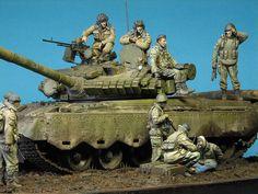 T-80BV Diorama #t80bv #diorama #scale #model #soviet #modern