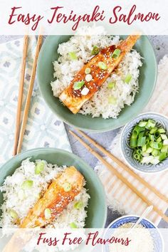 This one pan easy teriyaki salmon recipe is quick, fuss-free & fabulous. With no fancy ingredients dinner can be on the table in less than 30 minutes. Fry or grill up some salmon and use a soysauce and applce cider vinegar based sauce to flavour it.  | asian cuisine| |fakeaway| #Salmon #chinese