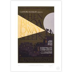 'When Broadway Sleeps' Broadway Poster - MinaLima Store