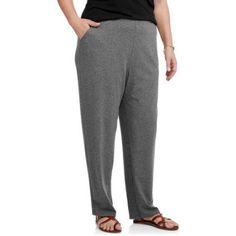 White Stag Women's Plus-Size Knit Pant, Size: 18W-20W, Black