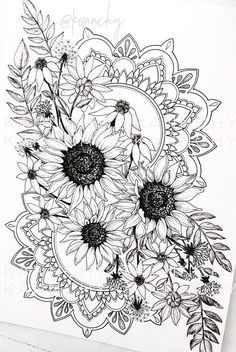 Finally doing something I can sell on my website! My most recent endeavor in ink is and coming to life slowly but surely! While drawing this I have learned 2 chapters of conversational French and finished Mad Men. Definitely taking good time an Dotwork Tattoo Mandala, Mandala Tattoo Design, Mandala Art, Floral Tattoo Design, Flower Tattoo Designs, Leg Tattoos, Body Art Tattoos, Sleeve Tattoos, Tatoos