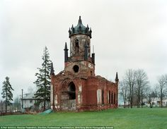 The church of the Holy Trinty in the village of Maryino, in Russia's Leningrad region. The...