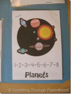 Lap book for planet study