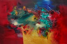 """Huracanado "" - Paula Barbella - Oleo sobre tela - 80 x 120 cm -  www.esencialismo.com"