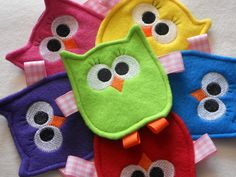 Friendly Owl Crinkle Toy for Baby Girl.