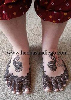Henna sandals.