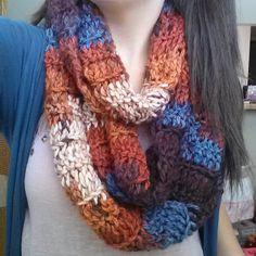 Crochet Autumn Infinity Scarf by RebeccaKCrochet on Etsy, $20.00