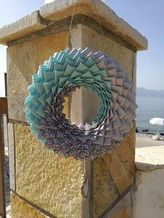 Advice on coastal decor, create your own beach house. Fabric Wreath, Burlap Wreath, Coastal Style, Coastal Decor, Wreaths For Front Door, Door Wreaths, Barn Wood Crafts, Art Deco Mirror, Quilted Ornaments