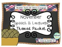 This is a monthly themed speech and language packet for November which includes the following thematic materials:11 Tier 1 words (with pictures); describing worksheet. Pgs. 3-517 Tier 2 (with context) words; describing worksheet. Pgs. 6-9Veteran articulation word cards:  7 /sh, ch/ words in mixed positions, 13 /r/ words in mixed positions, 13 /l/ words in mixed positions, 13 /s/ words in mixed positions (all sets using Thanksgiving & veteran themed words)  Pgs. 10-16Thankful Word List /k...
