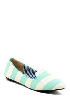 Mint Stripes Flat