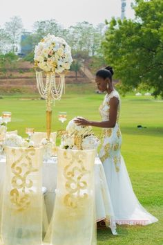 Black Pearl Events - Blue Velvet Decor & Marquee - Styled Wedding Shoot Abuja, Nigeria - BellaNaija Wedding Decor - George Okoro Photography - 037
