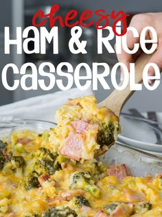 Cheesy Leftover Ham and Rice Casserole with Broccoli This Cheesy Leftover Ham and Rice Casserole recipe is a great way to use up some leftover Ham from the holidays! Plus you can easily substitute in leftover turkey or chicken too! Leftover Ham Recipes, Leftovers Recipes, Leftover Turkey, Recipes Dinner, Recipes Using Ham, Holiday Recipes, Leftover Rice, Winter Recipes, Broccoli Recipes