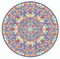 This is Knight's Promise colored by Lois S. One of 100+ printable mandalas you can color too! https://mondaymandala.com/m/knights-promise?utm_campaign=sendible-pinterest&utm_medium=social&utm_source=pinterest&utm_content=knights-promise&utm_term=fancolor