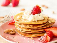 Ist das Marzipan? Low-Carb-Mandel-Pancakes mit Frischkäse