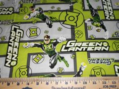 green lantern fabric  (Fabric inspiration for my items like hand towels for my guy!)