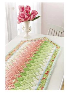 Colorwash Table Runner Pattern from Annie's -- Use your favorite jelly roll to make this fun Colorwash Table Runner Pattern!
