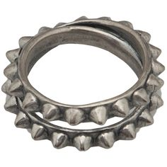 Tom Binns double pyramid stud ring ($180) ❤ liked on Polyvore