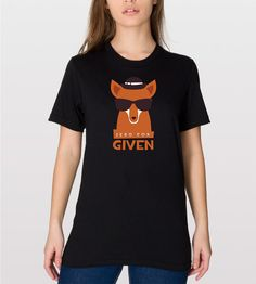 No Fox Given Tee  Sarcastic  Puns  Adult Humor   by CottonHues