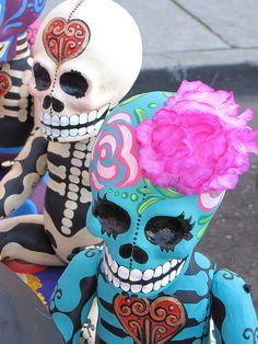 DIA DE LOS MUERTOS ☠~Day of the Dead~Colorful Skeletons