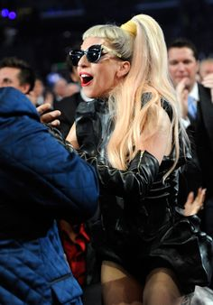 Lady Gaga was born to win. The Fame Monster leaps to accept one of three awards at the 53rd GRAMMYs in 2011