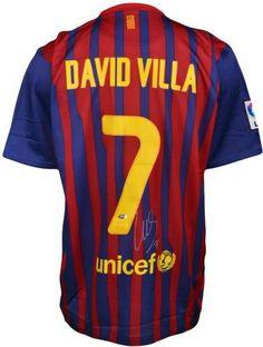 David Villa Autographed Barcelona Jersey - Sports Memorabilia Barcelona  Jerseys 971a9234e