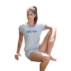 Pigiama donna mezza manica/pantalone corto.    Creazione e Produzione interamente Made in Italy Autentico.