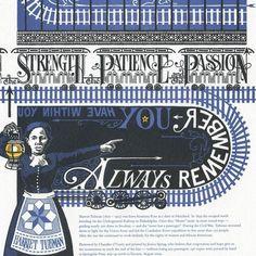 cool graphic harriet tubman postcard
