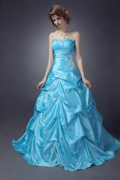 (CLICK IMAGE TWICE FOR PRICING AND INFO:)  #women #womendresses #eveninggown #cocktaildress #wedding #weddinggown #eveningdresses #prom Inexpensive Ball Gown Sweetheart Floor-length Taffeta Appliques Prom Dress SBG0258-TB