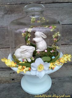 Cedar Hill Ranch: Top Viewed Posts from The Scoop #57 Not just for Easter vignette