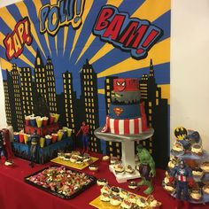 Superhero Cake Marvel Avengers Birthday Party Toddler Themed Fancy Dress Sweet Table Feature