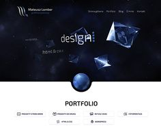 First version of my personal portfolio.  http://mateuszlomber.com #webdesign #design #web #portfolio #lumberpack #graphic #strona #www #cv #grafik #komputerowy #webdesigner #designer #behance