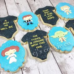Lovely Star Wars Baby Shower Cookies