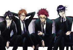 Return Of Kings, King Of Kings, Kk Project, Missing Kings, Suoh Mikoto, Anime Guys With Glasses, Chica Anime Manga, Kawaii Anime, Anime Ships