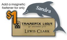 Custom name tags, engraved name tags, magnetic name tags