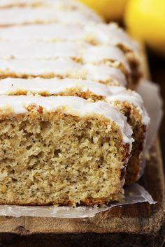 Healthy Greek Yogurt Lemon Poppyseed Pound Cake