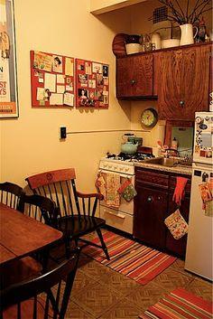 cocina de un petit apartament en ny