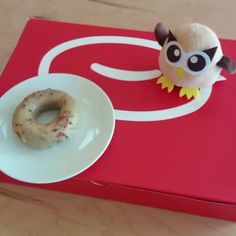[Stop motion video] Owly got a little carried away for #nationaldonutday. Welcome to the neighborhood Cartems Donuts! #dounuts #doughnuts