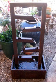 This is pretty easy to build this fountain. Maybe build a small one for in a house. Still way cool