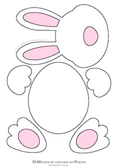 Easter Arts And Crafts, Easter Projects, Bunny Crafts, Spring Crafts, Holiday Crafts, Rabbit Crafts, Easter Activities, Preschool Crafts, Easter Coloring Pages